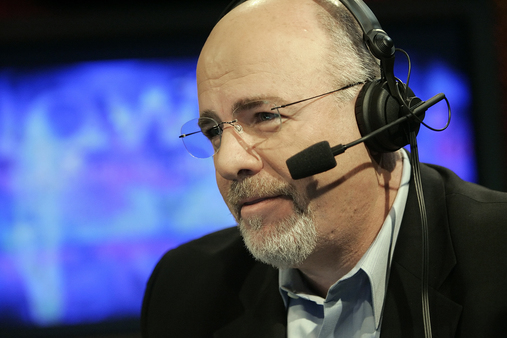 Personal finance guru Dave Ramsey works in his broadcast studio in Brentwood, Tenn., on March 23, 2006. (AP Photo/Mark Humphrey)