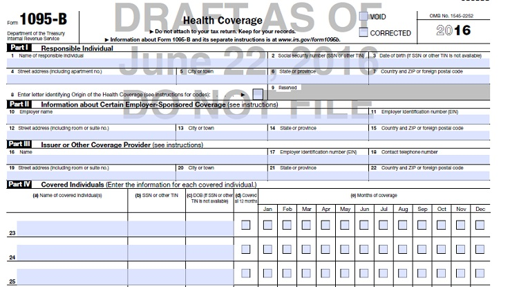 IRS tackles 1095-B versus 1095-C filing confusion