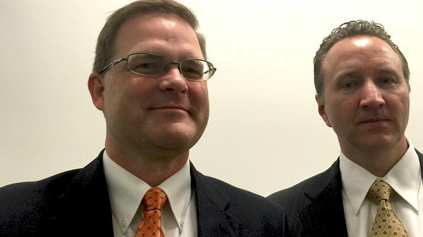 Michael Hamilton and Bill Nash have been out on the road helping Lincoln Financial remind advisors that the long-term care need time bomb is still sticking. (Photo: Allison Bell/LHP)