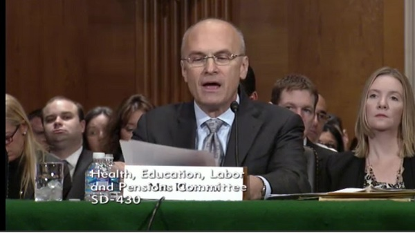 Andrew Puzder, CEO of CKE Restaurants Inc., and President-elect Donald Trump nominee to be secretary of labor. (Photo: Screen capture)