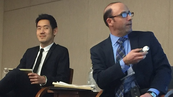 James Sung and Joseph Marinucci said at a recent presentation that the health insurers they rate will probably do better than the health insurance market as a whole. (Photo: Allison Bell/LHP)