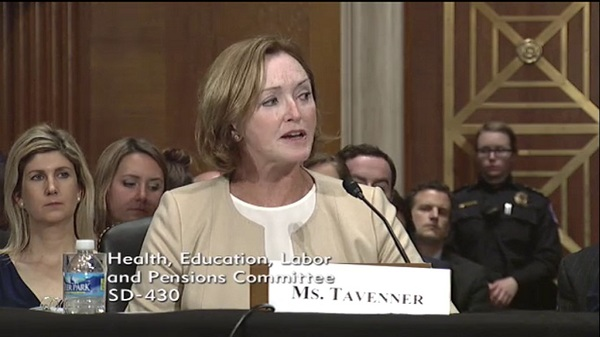 Marilyn Tavenner called to the continuation of the ACA reinsurance and subsidy programs critical to market stability. (Photo: Senate HELP Committee)