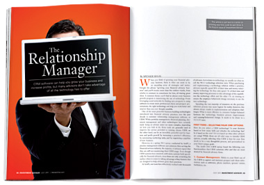 The Relationship Manager, IA, July 2011