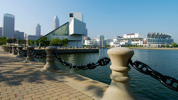 The Rock and Roll Hall of Fame and Museum in Cleveland. (Photo: AP)