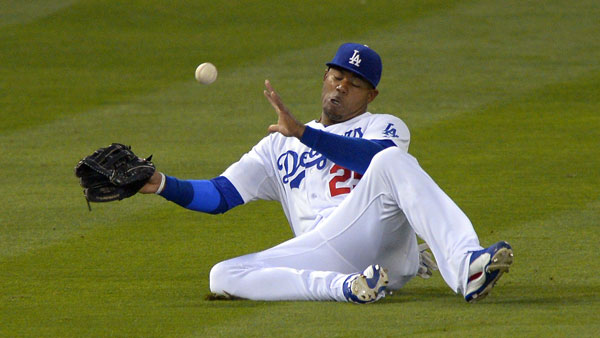 Carl Crawford, left fielder for the Los Angeles Dodgers. (Photo: AP)