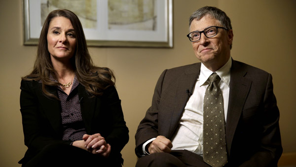 Bill Gates and his wife Melinda. (Photo: AP)