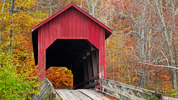Bean Blossom Covered Bridge in Brown County Indiana.
