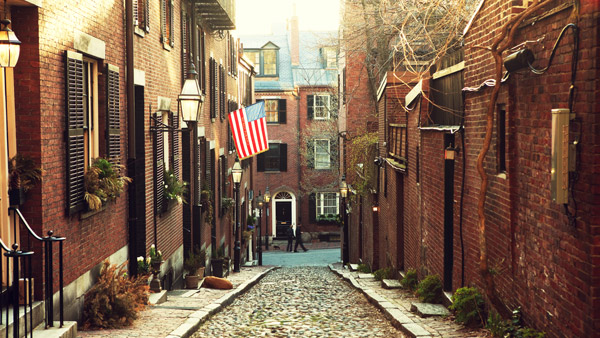 Beacon Hill in Boston.