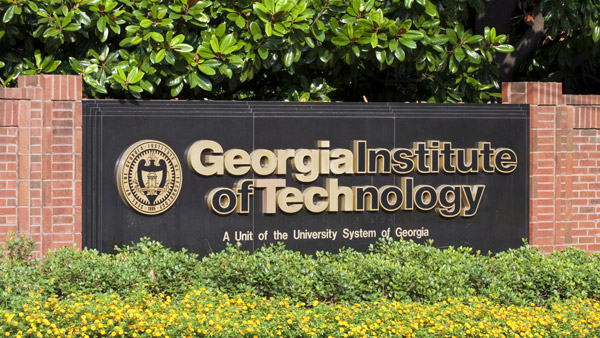 Georgia Tech sign.