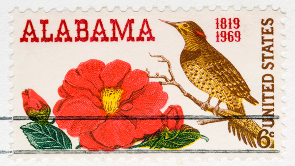 Alabama postage stamp.