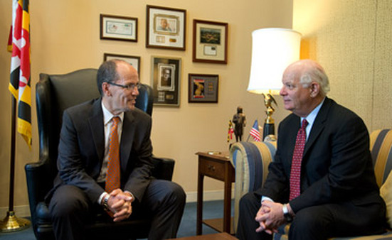 Tom Perez, left, with Sen. Ben Cardin, D-Md. (Photo: AP)
