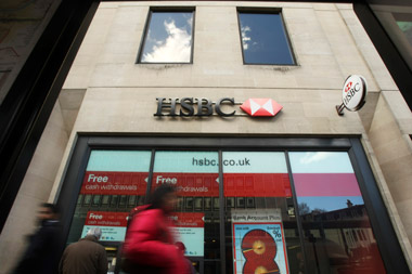 HSBC bank branch in London. (Photo: AP)