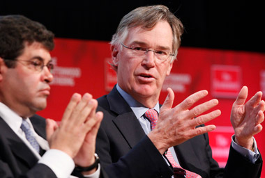 Gordon Nixon, right, RBC's CEO. (Photo: AP)