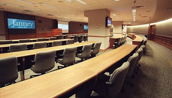 Meeting room in Janney Montgomery headquarters in Philadelphia.