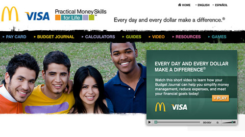 "The McDonald's ""Practical Money Skills for Life"" site"