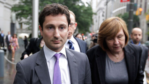 Fabrice Tourre on Thursday leaving a New York courthouse with his attorneys. (Photo: AP)