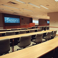 A Janney Montgomery meeting room at its headquarters.