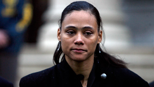 Marion Jones after her sentencing in 2008. (Photo: AP)