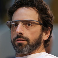 Sergey Brin wearing Google Glass. (Photo: AP)