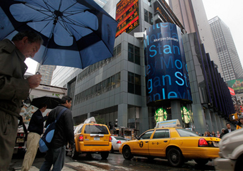 Morgan Stanley headquarters in Times Square, New York. (Photo: AP)