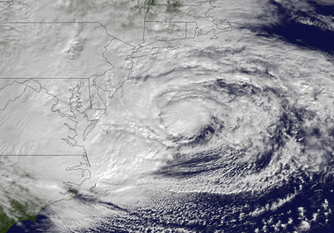 Radar image of Hurricane Sandy. (Photo: AP)