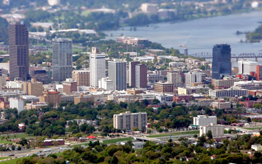Aerial view of Little Rock. (Photo: AP)