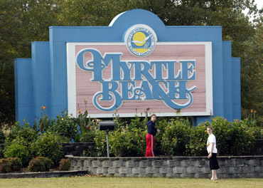 Sign for Myrtle Beach, S.C.