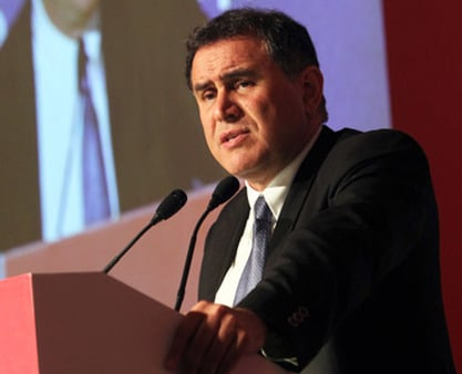 Nouriel Roubini at a Nomura equity conference. (Photo: AP)