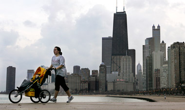 View of Chicago from Lake Michigan. (Photo: AP)