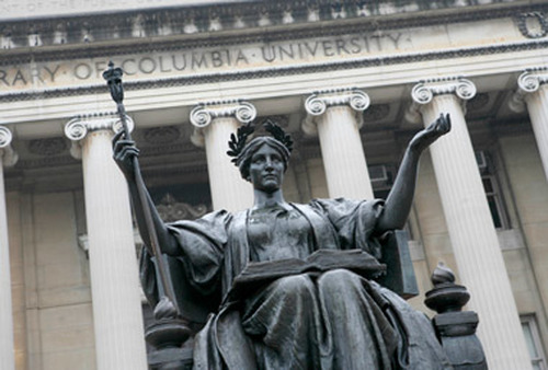 The library at Columbia University in New York. (Photo: AP)