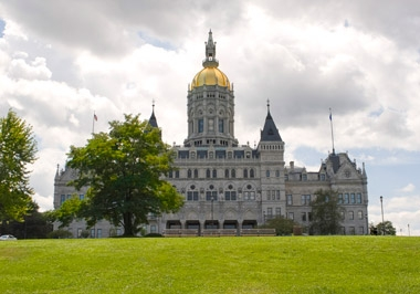 Connecticut state capitol building.