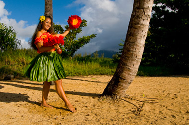 Hula dancer in Hawaii.