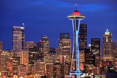 A view of Seattle's Space Needle.