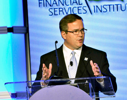 FSI CEO Dale Brown speaking at the FSI conference earlier this year.