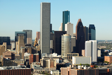 The Houston skyline.