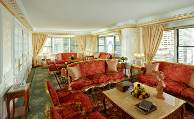 NY Palace Tower Royal Suite Living Area.