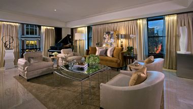 The Peninsula Suite Living Area.