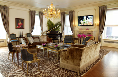 The Royal Plaza Suite Living Area