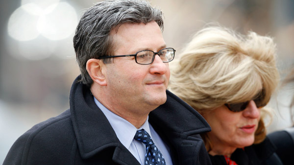 Joe Nacchio, with his wife, Anne Esker (Photo: AP)