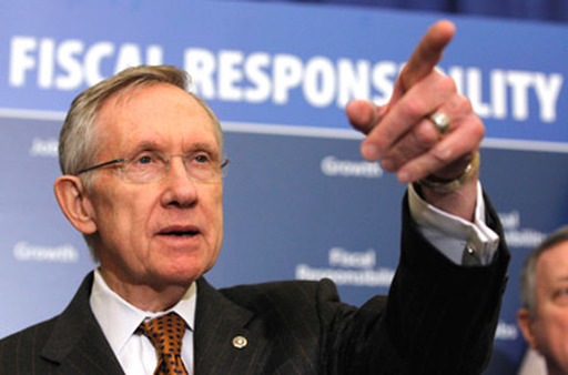 Senate Majority Leader Harry Reid says Tea Party Republicans want to