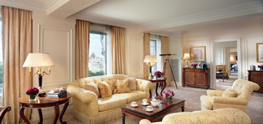 The Ritz Carlton Royal Suite Living Area
