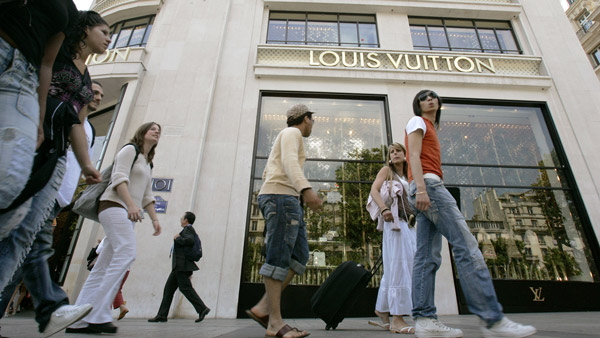 Louis Vuitton store in Paris. (Photo: AP)