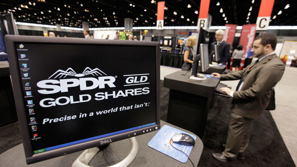 The SPDR Gold Shares ETF won an award in the precious metals category. (Photo: AP)