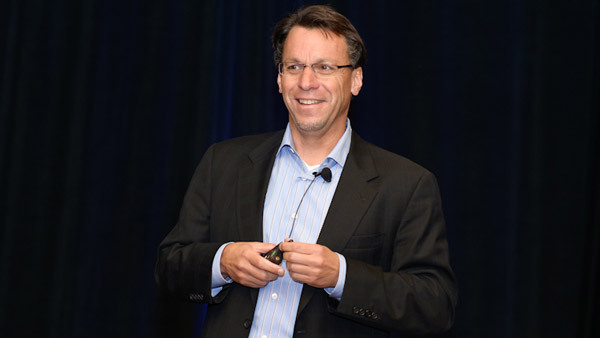 Chip Roame gives the keynote talk at the Tiburon CEO Summit XXV on Oct. 8 in San Francisco