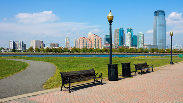 View of Jersey City from Liberty State Park.