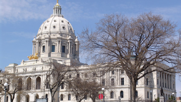 Minnesota State Capitol building in Saint Paul.
