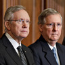 Reid, McConnell Fight Next Round on Debt, Raising Hopes