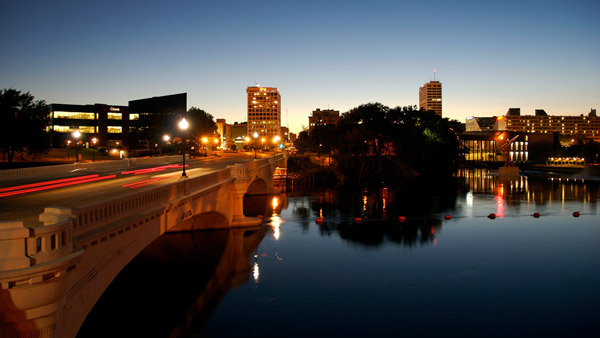 Downtown South Bend, Indiana.