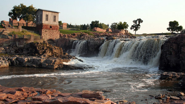 Falls Park, Sioux Falls, South Dakota.