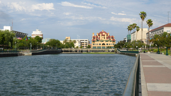 Waterfront downtown Stockton, California. (Photo: Wikimedia Commons)